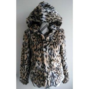 NWOT faux fur H&M hooded jacket
